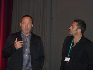 Derrick Borte mit Produzent Scott Floyd Lochmus